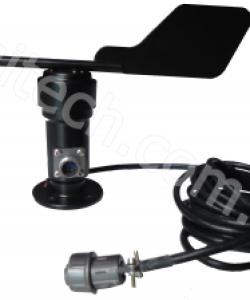 Vật liệu kim loại cảm biến hướng gió tín hiệu điện áp 0-5 V đầu ra tốc độ gió